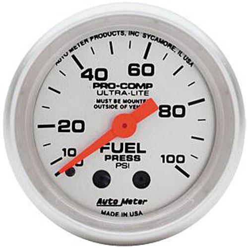 Autometer Ultra-Lite Fuel Pressure Gauge 2-1/16″ Mechanical