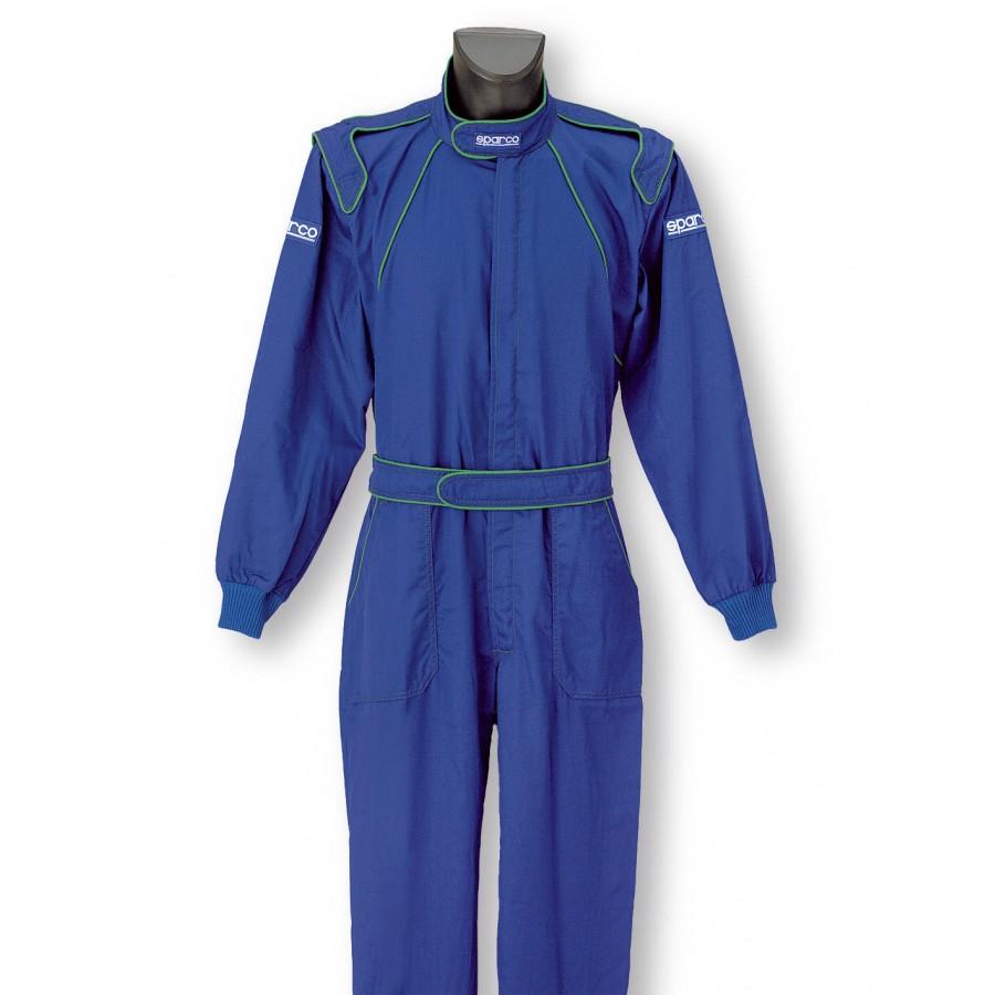 002002 Sparco Pit Stop Azzurra Mechanic Suit